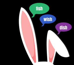 rabbit ears hearing fish wish and dish